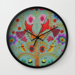 kalamkari Wall Clock
