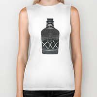 alcohol Biker Tanks featuring Alcohol Bottle xxx by matteolasi