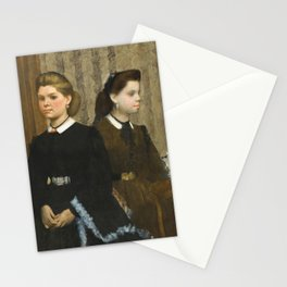 The Bellelli Sisters (Giovanna and Giuliana Bellelli) Stationery Cards