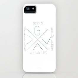 God is greater iPhone Case