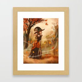 Autumn Witch Framed Art Print