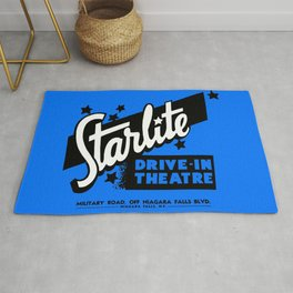 Starlite Drive-In Niagara Falls in Blue Rug