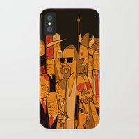 the big lebowski iPhone & iPod Cases featuring The Big Lebowski by Ale Giorgini