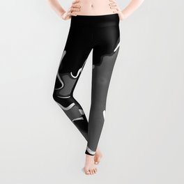 spotted abstract line art 2 absbwi Leggings