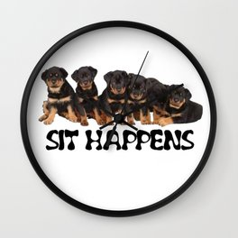 Sit Happens Wall Clock