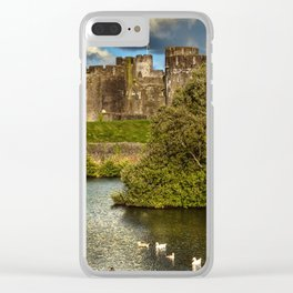 Caerphilly Castle Western Towers Clear iPhone Case