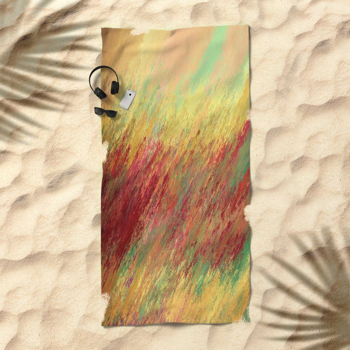Fire Grass Beach Towel
