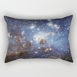 LH 95 stellar nursery in the Large Magellanic Cloud (NASA/ESA Hubble Space Telescope) Rectangular Pillow