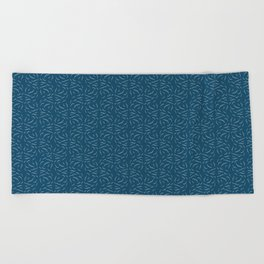 Swirled - Deep Teal Beach Towel