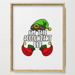 Accountant Elf Matching Family Group Christmas Serving Tray