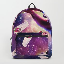 Cowboy Space Cat On Dolphin Unicorn - Burrito Backpack