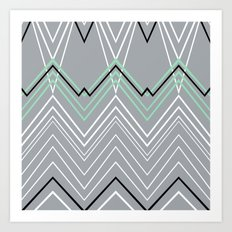 Mint Grey Chevy Art Print