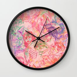 Labyrinth Doodles Wall Clock