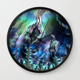 Storm Over the Mountains Wall Clock