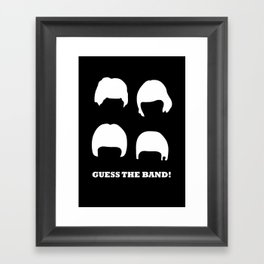 Guess the band! Framed Art Print