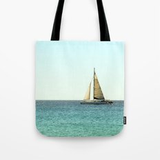 Sail Away with Me - Ocean, Sea, Blue Sky and Summer Sun Tote Bag