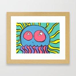 Gouache Radical Jellyfish Framed Art Print