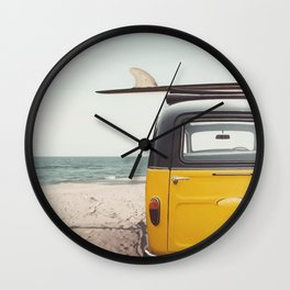 Summer surfing Wall Clock