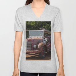 Antique Fire Truck Unisex V-Neck