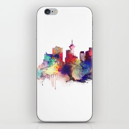 Vancouver Watercolor Skyline iPhone Skin
