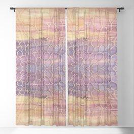 Webbed Sunset Sheer Curtain