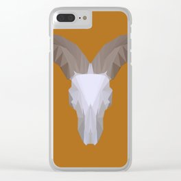 Low Poly Aoudad Skull Clear iPhone Case