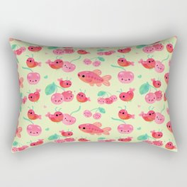 Cherry shrimp and Cherry barb Rectangular Pillow