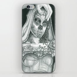 Sugarskull Tattooed Natalie Portman iPhone Skin