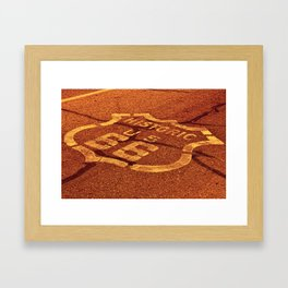 Historic route 66 in the Mojave desert. Framed Art Print