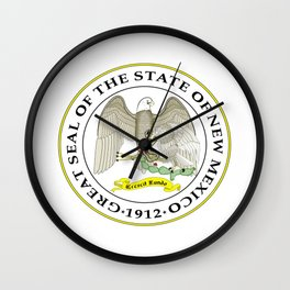 seal of new mexico Wall Clock