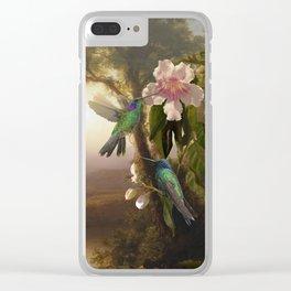 Sparkling Violetear Hummingbirds Clear iPhone Case