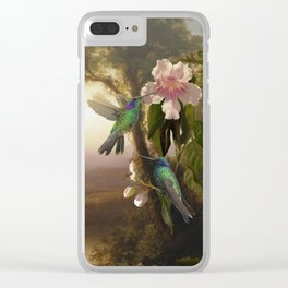 Sparkling Violetear Hummingbirds Clear iPhone Case