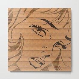 RoyL GIRL in wood, (Roy Lichtenstein.) Metal Print