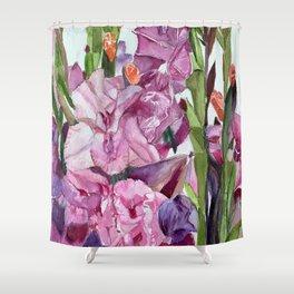 Gladiolus Forest  Shower Curtain