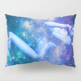 Blue Galaxy Woman : Nude Art Pillow Sham