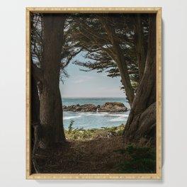 Sea Ranch Beach Lookout Printable Wall Art | California Nature Ocean Coastal Travel Photography Print Serving Tray