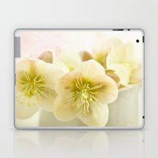 Hellebores in blue jug Laptop & iPad Skin