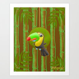 Excited Toucan! Art Print