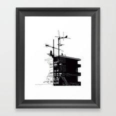 French rooftops Framed Art Print