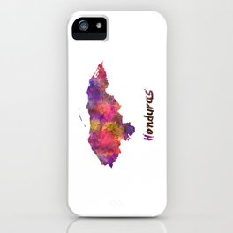 Honduras  in watercolor iPhone Case
