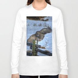 Great Grey Arriving Long Sleeve T-shirt
