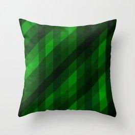 Weaving Green Diamonds Pattern Throw Pillow