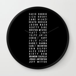 Vlog Squad Black II Wall Clock