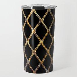 Rusty Corrugated Mesh Travel Mug