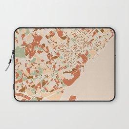 BARCELONA SPAIN CITY MAP EARTH TONES Laptop Sleeve