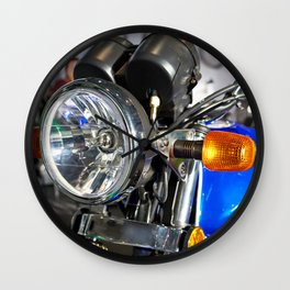 Headlight of road motorcycle bike classic Wall Clock