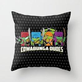 Cowabunga Dudes Throw Pillow