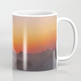 Sunrise with fog at an African river Coffee Mug