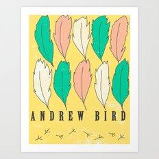 Andrew Bird 'Feathers' Art Print