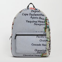 Vintage Oregon Coast Map #traveller #wanderlust #Pacific Backpack